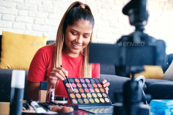 vlog make up artist - Stock Photo - Images