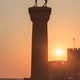 sunrise in Mandraki harbor. Rhodes, Greece - PhotoDune Item for Sale