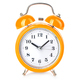 Retro alarm clock close-up isolated on a white background. - PhotoDune Item for Sale