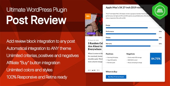 Ultimate Post Review - Responsive WordPress Posts Reviews and Rating plugin