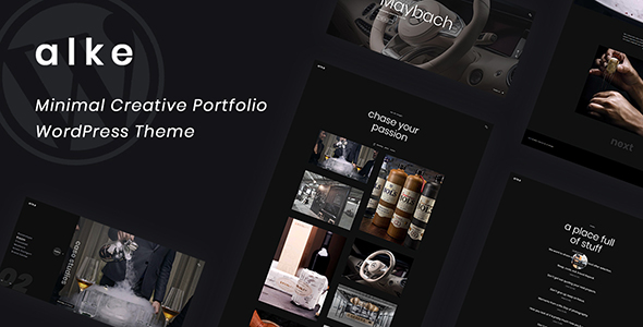 Alke - Minimal Creative Portfolio WordPress Theme