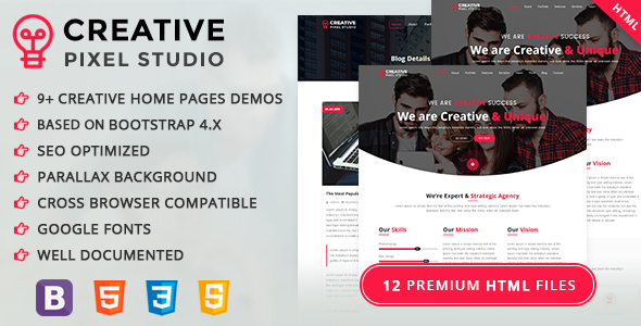 Creative Pixel Studio One Page Html Template Mastertemplate