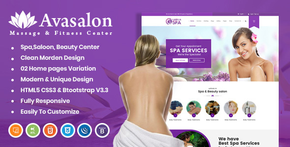 Excellent Avasalon HTML Template