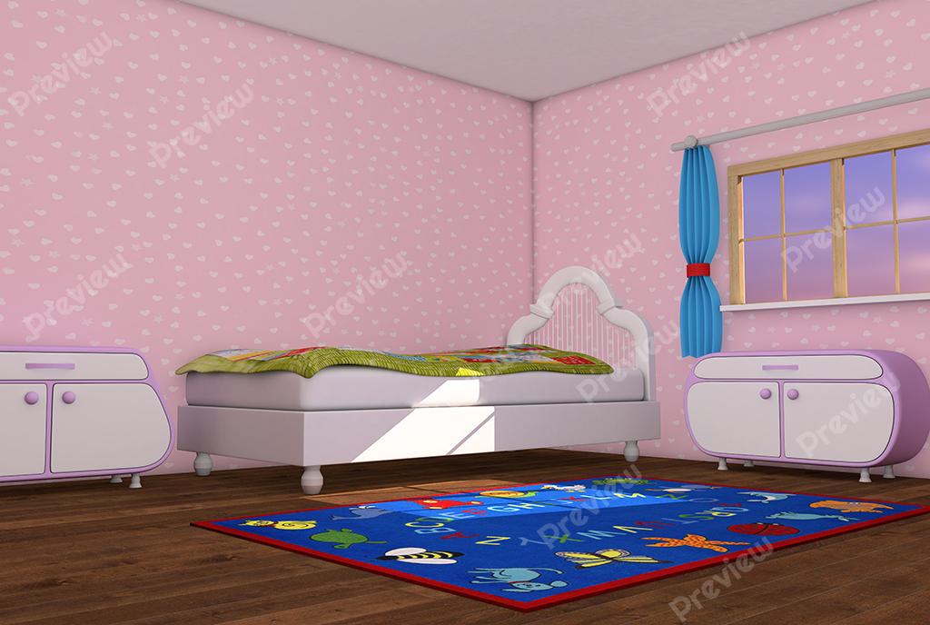 Cartoon Pink Kids Room