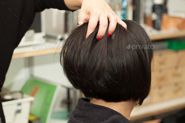 Hairstyling At Hairdresser - Stock Photo - Images