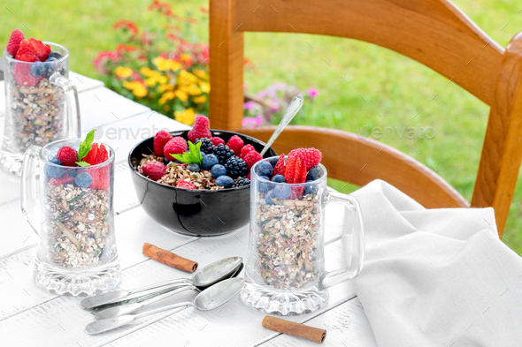 Breakfast With Berries - Stock Photo - Images