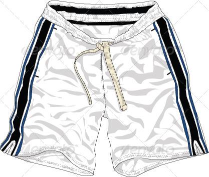 Mens Board Shorts Vector Flats Mock Ups Fashion By