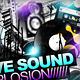 Sound Explosion Poster + Flyer // 3 Color Versions - GraphicRiver Item for Sale