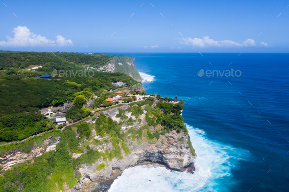 aerial view of beautiful bali island landscape - Stock Photo - Images