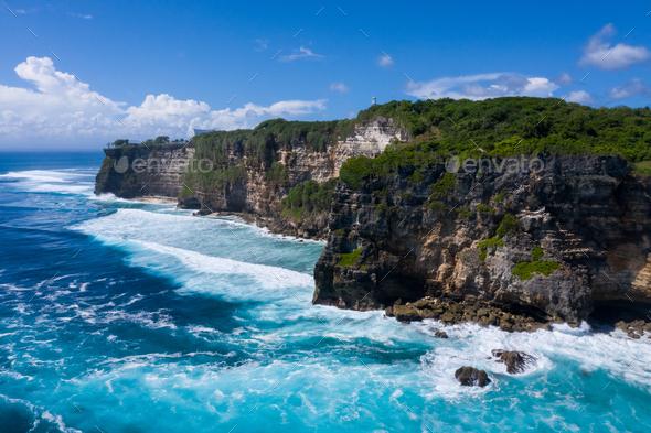 beautiful sea view in bali island - Stock Photo - Images