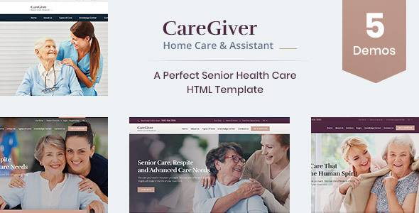 Wondrous Care Giver - Senior Care & Medical HTML Template