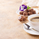 Cup of coffee with chocolate candies - PhotoDune Item for Sale