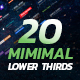 Minimal Lower Thirds Pack - VideoHive Item for Sale