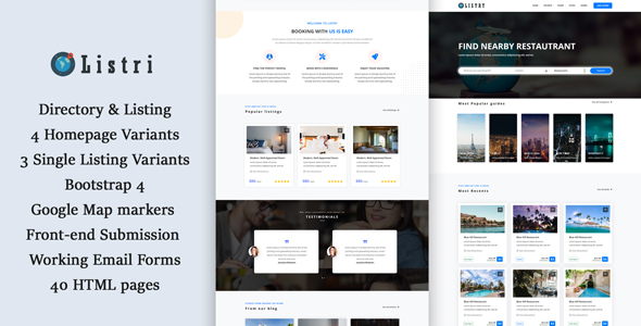 listry - Directory & Listing HTML Template