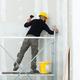 worker plastering gypsum board wall. - PhotoDune Item for Sale