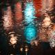 Raindrops on asphalt in the light of evening lights - PhotoDune Item for Sale