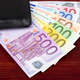 European money in the black wallet  - PhotoDune Item for Sale