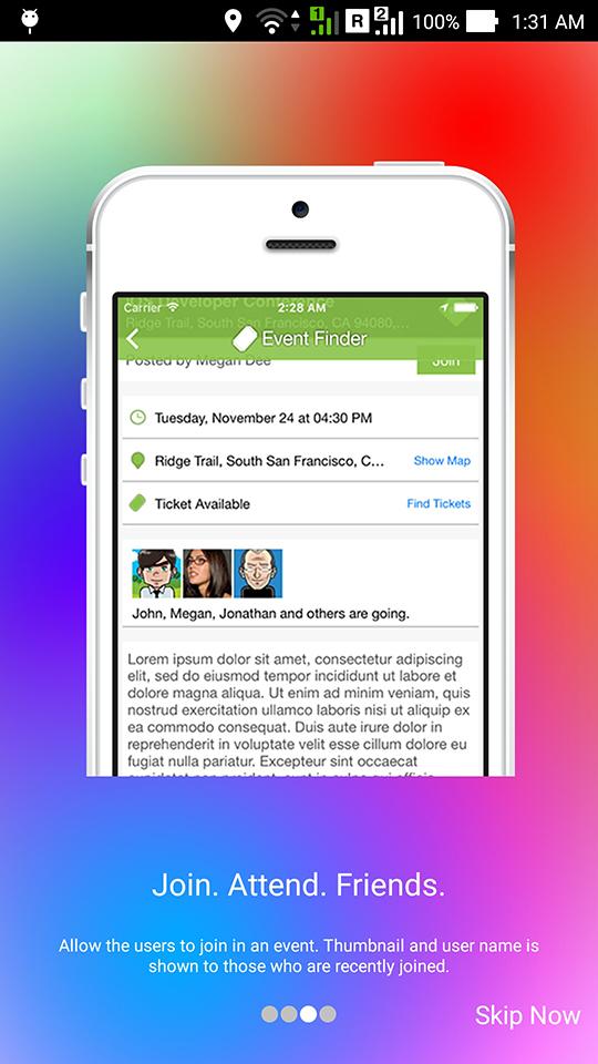 Event Finder Full Android Application v1 7
