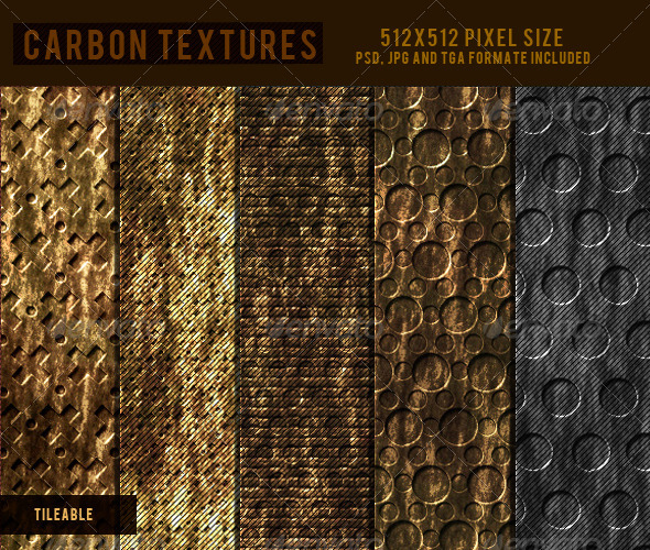 Carbon Textures  - 3DOcean Item for Sale