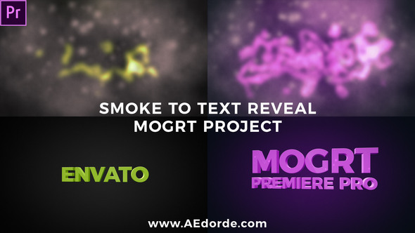 Smoke To Text Reveal (Mogrt)