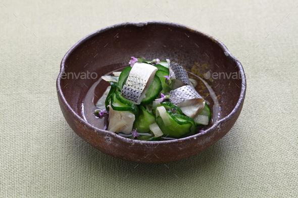 Kohada Sunomono( spotted sardine vinegared dish),  japanese cuisine. - Stock Photo - Images