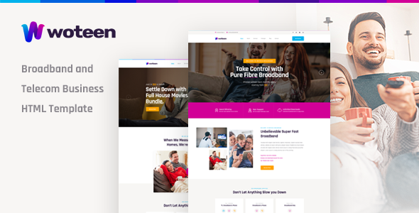 Woteen - Broadband and Telecom Business HTML Template