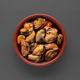 Clay pot filled with mussels in sauce isolated on gray background - PhotoDune Item for Sale