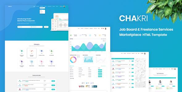 Chakri – Job Board & Freelance Services Marketplace HTML Template