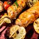 Grilled salmon on skewer - PhotoDune Item for Sale