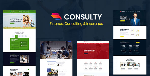 Extraordinary Consulty - Finance Consulting and Insurance HTML Template
