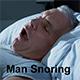 Man Snoring