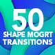 Shape Transitions MOGRT - VideoHive Item for Sale