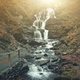 Highland forestry slope foamy waterfall stream - PhotoDune Item for Sale