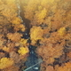 Golden autumn forest creek scenery aerial view - PhotoDune Item for Sale