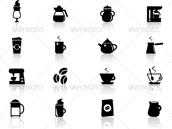 Coffee Icons Set - Objects Icons