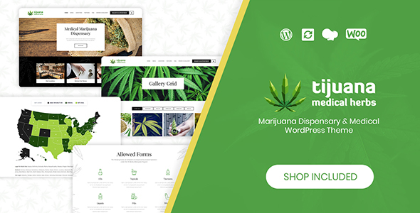 Tijuana - Marijuana Dispensary & Medical WordPress Theme