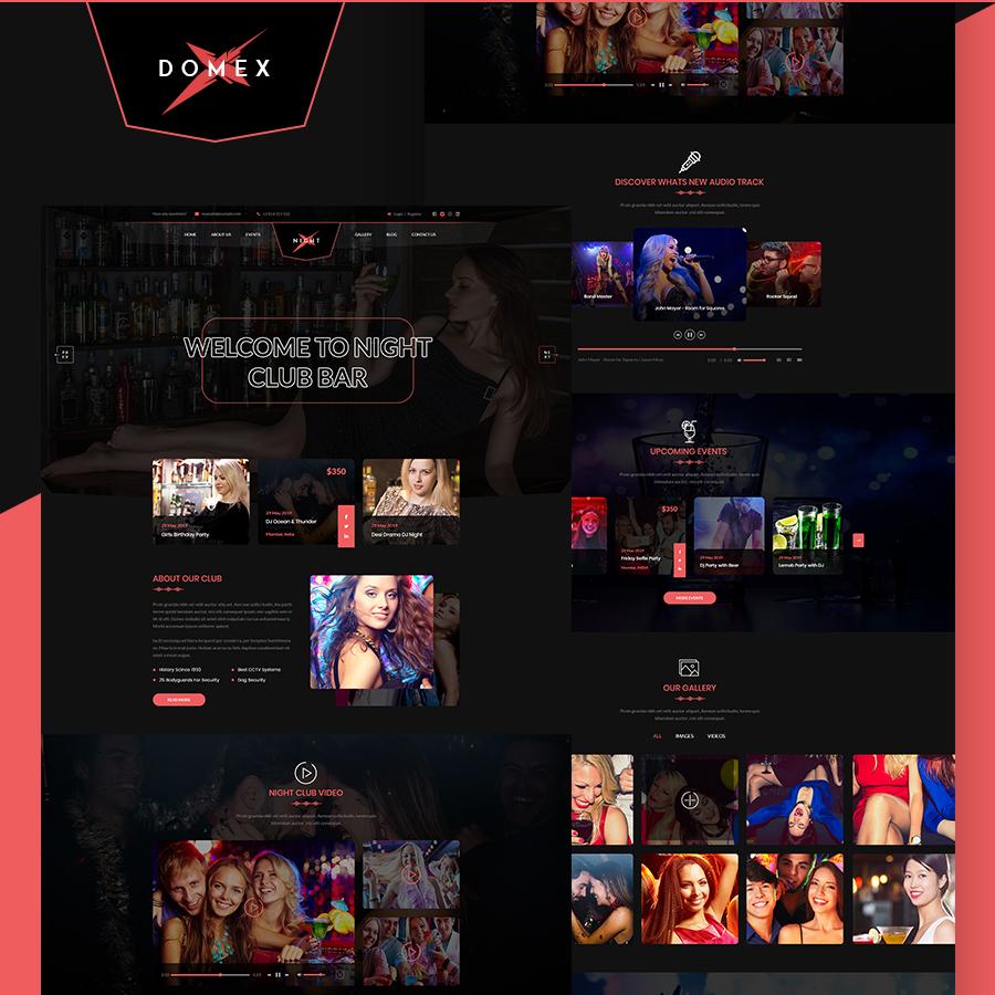 Domex - Club PSD Template - 1