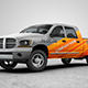 Pickup Truck Wrap Design Mock-Up - VideoHive Item for Sale