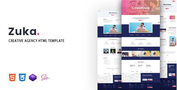 Wondrous Zuka - Creative Agency HTML Template