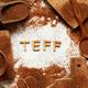 Raw teff grain with word TEFF - PhotoDune Item for Sale