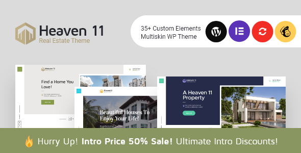 Heaven11 | Property & Apartment Real Estate WordPress Theme