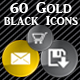 Gold and black web icons - GraphicRiver Item for Sale