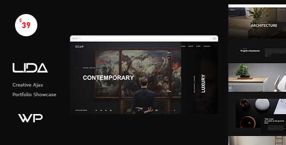 Lida - Ajax Portfolio WordPress Theme