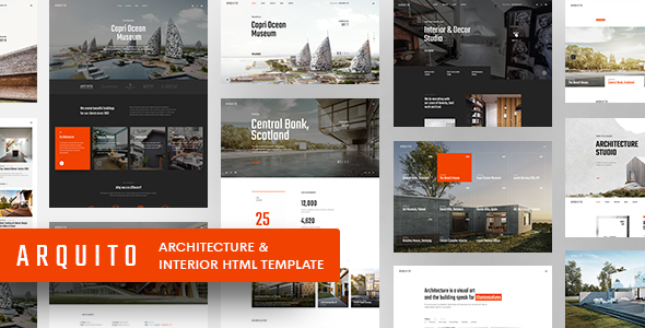 Arquito - 3D Architecture & Interior HTML Template by paul_tf