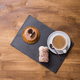 Top view of traditional dessert with a cup of coffee near it - PhotoDune Item for Sale