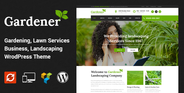 Gardener - Lawn and Landscaping WordPress Theme by SteelThemes