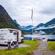 Geiranger fjord, Norway. Family vacation travel RV, holiday trip - PhotoDune Item for Sale