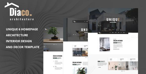 Diaco - Architecture & Interior Design HTML Template
