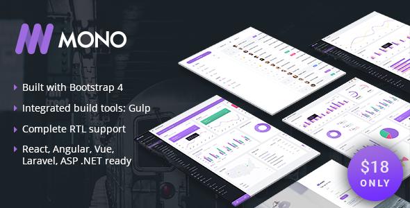 MONO – Admin Template + UI Kit | Bootstrap4