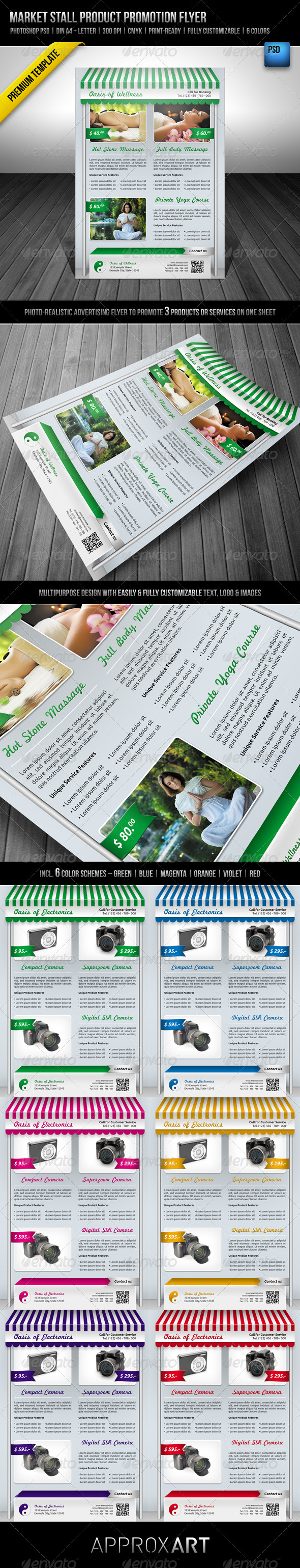 Market Stall Product Promotion Flyer - Commerce Flyers